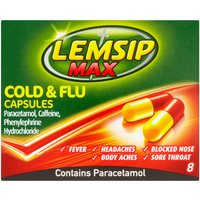 DO NOT SELL ONLINE - Lemsip Max Cold and Flu Capsules - 8 Pack