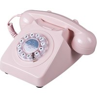 Wild And Wolf Wild & Wolf 746 Vintage Style Telephone - Dusty Pink
