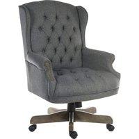 Teknik Chairman Fabric Swivel Chair - Grey