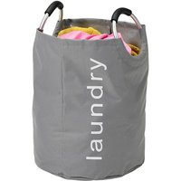 H & L Russel H&L Russel Heavy Duty Laundry Hamper with Handles - Grey