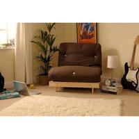 SleepOn Albury Double Sofa Bed Set With Tufted Mattress - Cream-Chocolate
