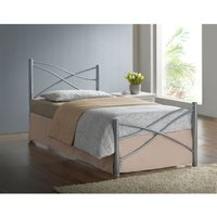 Iyla Metal Single Bed Frame - Silver