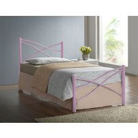 Iyla Metal Single Bed Frame - Pink