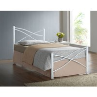 Iyla Metal Single Bed Frame - White