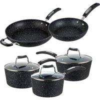 Scoville Neverstick Aluminium Saucepan and Fry Pan Set