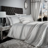 Catherine Lansfield Pearl Diamante Bands Bed Set - King