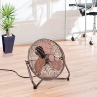 "Daewoo 14"" 3-Speed Metal Floor Fan - Brass"
