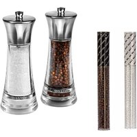 Cole & Mason Salt and Pepper Gift Set with Refills - Silver