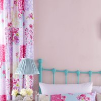Catherine Lansfield Gypsy Patchwork Pencil Pleat Curtains - Floral