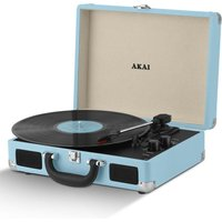 Akai A60011NB Bluetooth Rechargeable Turntable in Case - Blue
