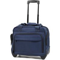 Members by Rock Luggage Essential Laptop Case on Wheels - Navy