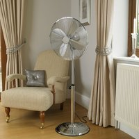 Limitless 16-Inch Chrome Pedestal Fan