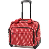 Members by Rock Luggage Essential Laptop Case on Wheels - Red Polka Dots