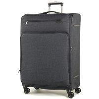 Rock Madison Large Lightweight Expandable 4-Wheel Suitcase - Black