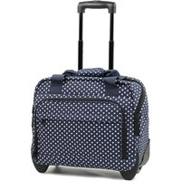 Members by Rock Luggage Essential Laptop Case on Wheels - Navy Polka Dots