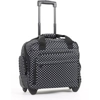 Members by Rock Luggage Essential Laptop Case on Wheels - Black Polka Dots