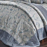 Catherine Lansfield Opulent Jacquard Duck Egg Bed Set - King