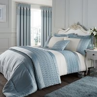 Catherine Lansfield Quilted Luxury Satin Bedspread - Duck Egg