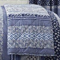 Catherine Lansfield Santorini Reversible Bedspread - Blue