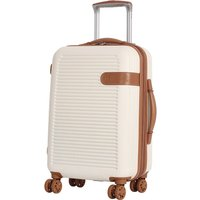 IT Luggage 8-Wheel Hard Shell Cabin Suitcase - Cream