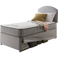 Silentnight Healthy Growth Imagine Traditional Sprung Mattress and Maxi Store Single Bed - Slate Grey
