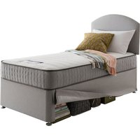 Silentnight Healthy Growth Imagine Miracoil Mattress and Maxi Store Single Bed - Slate Grey