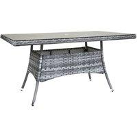 Charles Bentley Milano Rectangular Rattan Dining Table - Grey