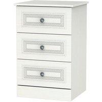 Otega 3-Drawer Bedside Table - White