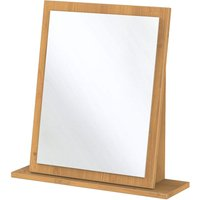 Otega Ready Assembled  Dressing Table Mirror - Oak