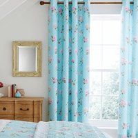 Catherine Lansfield Embroidered Floral Eyelet Curtains