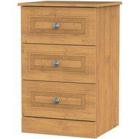 Otega 3-Drawer Bedside Table -Oak