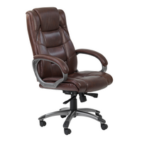 Alphason Northland Leather-faced Office Chair - Brown