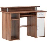 Alphason Albany Office Desk - Walnut
