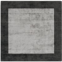 Asiatic Blade Rug, 200 x 200cm - Charcoal/Silver