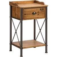 New Foundry Foundry Table 1 Drawer Fir Wood/Metal