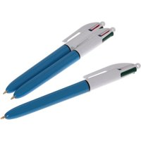 Bic Four-Colour Retractable Ballpoint Biro - Twin-Pack with One Free
