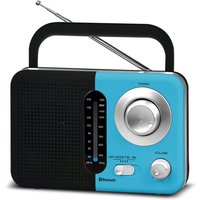 Soundz BT USB SD AC/DC Portable Radio with Bluetooth - Blue/Black