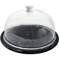 Premier Housewares Marble Cheese Board with Lid - Green