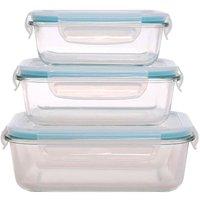 Sabichi 3-Piece Rectangular Glass Storage Set