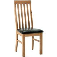 Ametis Devon Oak Lancaster Slatted Dining Chairs - Pair CHR-02
