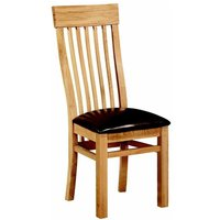 Ametis Devon Oak Curved Back Dining Chairs - PAIR CHR-03