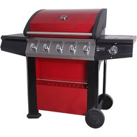 Connoisseur 5-Burner Gas BBQ - Red