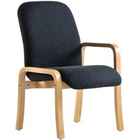 Dams Yealm Left Arm Reception Chair - Charcoal