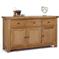 Ametis Devon Oak 3 Door 3 Drawer Sideboard