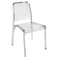 Teknik Set of 4 Clarity Chairs - Clear