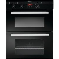 Indesit FIMU23BKS Built-In Double Electric Oven - Black