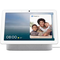 """Google Nest Hub Max with Google Assistant & 10"""" Screen - Chalk"""