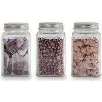 Sabichi 3-Piece Traditional Ribbed Canister Set