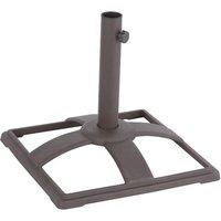 Charles Bentley 10kg Cast Iron Metal Square Parasol Base - Bronze
