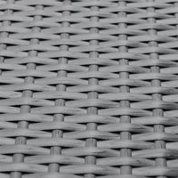 Charles Bentley L-shaped Rattan Corner Sofa Set - Black and Cream